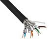 Belden Black PUR Cat7 Cable S/FTP, 305m Unterminated/Unterminated