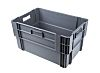 RS PRO 60L Grey PP Large Storage Box,