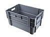 RS PRO 60L Grey PP Large Storage Box, 320mm x 400mm x 600mm