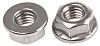 17.9mm Plain Stainless Steel Hex Flanged Nut, M8,