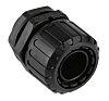 Adaptaflex M20 Straight Cable Conduit Fitting, Black 20mm