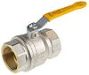RS PRO Brass High Pressure Ball Valve 2