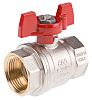 RS PRO Brass High Pressure Ball Valve 1