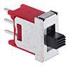 Commutateur à glissière, Unipolaire à deux directions (1RT), On-Off-On, 3 A @ 120 V c.a., montage Circuit imprimé