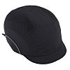 JSP Black Short Peaked Safety Cap, HDPE Protective