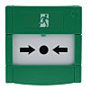 RS PRO Green Emergency exit unlocking box, Button