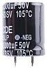 Cornell-Dubilier 3300μF Electrolytic Capacitor 50V dc, Through