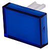 Blue Rectangular Push Button Lens for use with