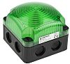 Werma BMW 853 Green LED Beacon, 24 V dc, Steady, Surface Mount, Wall Mount