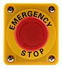 Omron Panel Mount Mushroom Head Emergency Button -