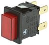 Arcolectric Double Pole Double Throw (DPDT) Latching Red