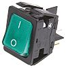 Arcolectric Illuminated Double Pole Single Throw (DPST), On-Off Rocker Switch Panel Mount