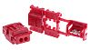 JST, CL Series Tap Splice Connector, Red, Insulated,