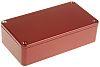 Hammond 1590, Red Die Cast Aluminium Enclosure, IP54,