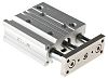 SMC Pneumatic Guided Cylinder 20mm Bore, 50mm Stroke,