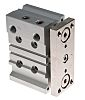 SMC Pneumatic Guided Cylinder 25mm Bore, 20mm Stroke,