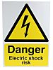 RS PRO Danger Electric Shock Risk Hazard Warning