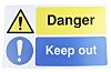 PP Rigid Plastic Danger Prohibition Sign, Danger Keep