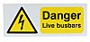 RS PRO Danger Live Busbars Hazard Warning Sign