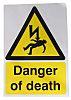 RS PRO Self-Adhesive Danger of Death Hazard Warning