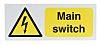 RS PRO Main Switch Hazard Warning Sign (English)