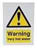 RS PRO Warning Hot Water Hazard Warning Sign