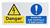 RS PRO Danger Live Electrical Equipment, Isolate For