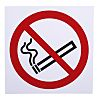 Vinyl No Smoking Prohibition Sign, English