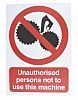PP Rigid Plastic Keep Out Prohibition Sign,Unauthorised Persons