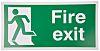 PVC FIRE EXIT, Fire Exit, English, Exit Sign