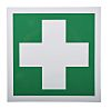 RS PRO Vinyl Green/White First Aid Label, 150