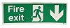 Vinyl FIRE EXIT, Fire Exit, English, Exit Sign