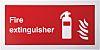 RS PRO Brandschutzzeichen Kunststoff Feuerlöscher Rot/Weiß Fire Extinguisher, Englisch