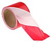 RS PRO Red/White PE 100m Non-adhesive Barrier Tape,