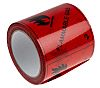 RS PRO Black/Red Vinyl Safety Labels, Flammable Gas