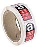 RS PRO Black/Red/White Vinyl Safety Labels, Breathing Asbestos