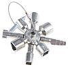 Knipex Diecast Zinc 5 way Control Cabinet Key
