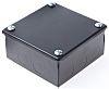 RS PRO Steel Black Enamel Adaptable Box, 5