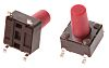 Red Stem Tactile Switch, Single Pole Single Throw