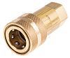 RS PRO Brass Female Hydraulic Quick Connect Coupling