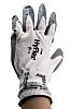 Ansell Hyflex, Grey Nitrile Coated Work Gloves, Size 10