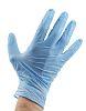 BM Polyco Blue Nitrile Disposable Gloves size 8.5