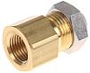 SMC Pneumatic Bulkhead Threaded-to-Tube Adapter, Push In 4