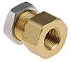 SMC Pneumatic Bulkhead Threaded-to-Tube Adapter, Push In 6