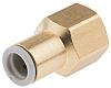 SMC Straight Threaded Adaptor to Rc 1/4 Female to Push In 8 mm, KQ2 Series