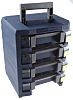Raaco 4 Cell Blue Compartment Box, 342mm x