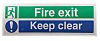 RS PRO Vinyl Fire Safety Sign, Fire Exit
