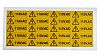 RS PRO Black/Yellow Vinyl Safety Labels, 115V AC-Text