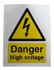 RS PRO Black/White/Yellow Vinyl Safety Labels, Danger High