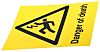 RS PRO Black/Yellow PC Safety Labels, Danger of